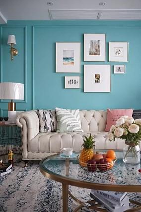 简美式舒适自然,客厅阳台好看实用客厅美式经典设计图片赏析