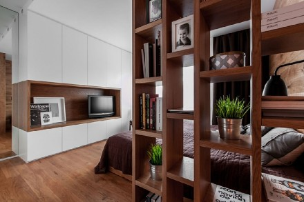 后现代风格110平复室卧室