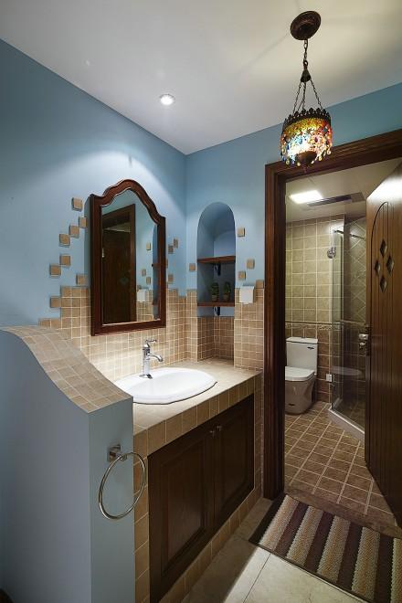 每个细节都透露着精致的美式之家卫生间