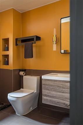 混搭3居室,112平8万元全包卫生间设计图片赏析