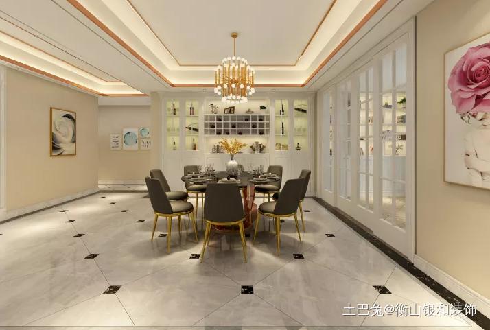 让你一眼就心动的简美风格厨房美式经典餐厅设计图片赏析