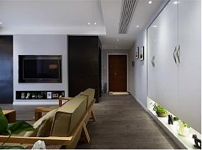 以黑白灰为基调,将墙面做为聚集点功能区欧式豪华设计图片赏析
