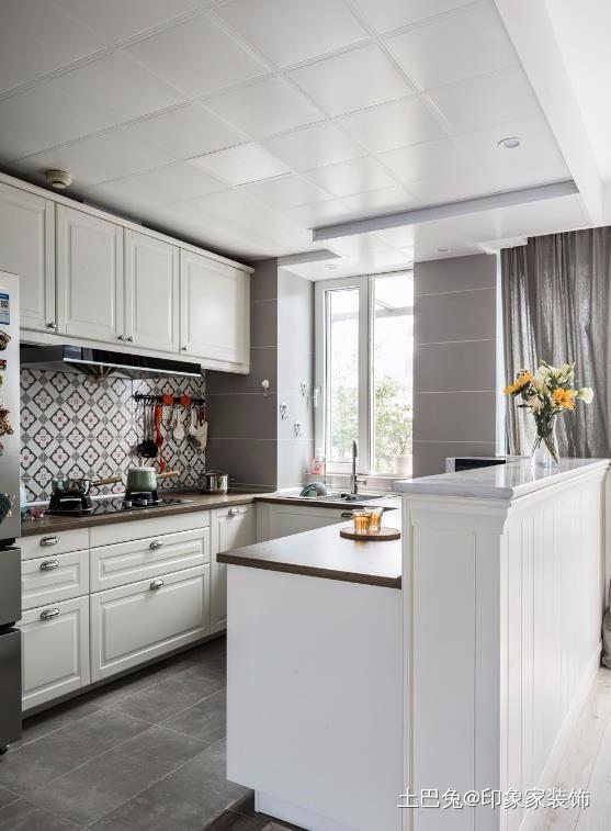 北欧美式融合在一起竟然如此惊艳餐厅橱柜潮流混搭厨房设计图片赏析