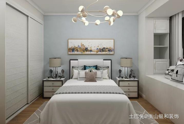 多种风格的兼容的轻奢风格卧室潮流混搭卧室设计图片赏析
