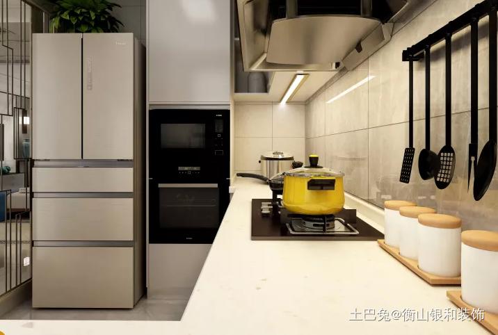 时尚双重合璧的新中式风格餐厅中式现代厨房设计图片赏析