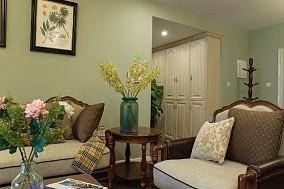 清新典雅复古美式三居客厅1图美式经典设计图片赏析