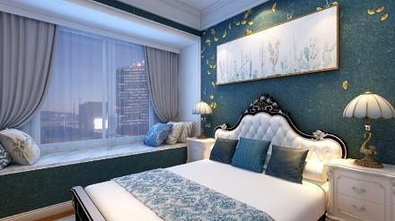 160㎡低调奢华的现代欧式卧室