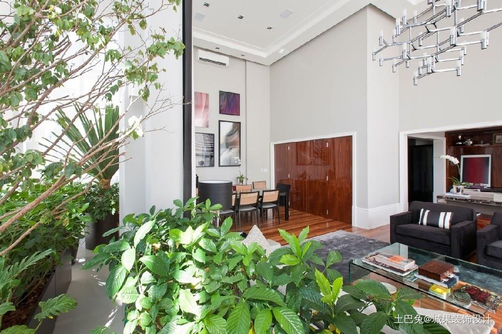 105平两居室中式风格莲湖山庄功能区沙发中式现代功能区设计图片赏析