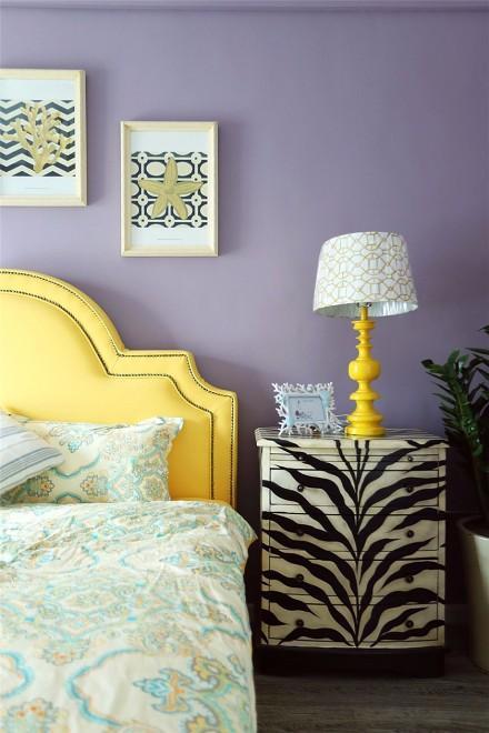 浪漫暖系地中海风情二居卧室