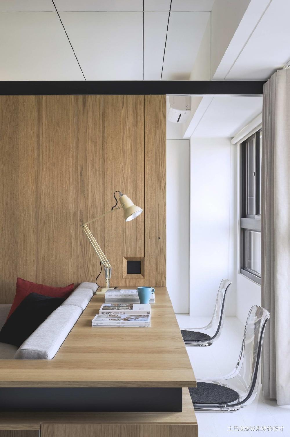 48平小坪数公寓简单的个人生活功能区现代简约功能区设计图片赏析