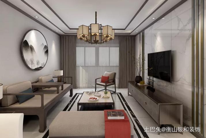 结合现代素雅的新中式风格客厅其他客厅设计图片赏析
