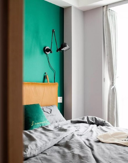 原木色+黑白灰,60平米北欧风太有范了卧室