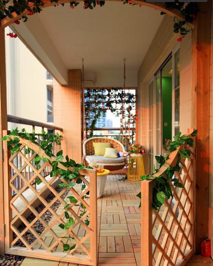 126㎡三居室现代风格童年乐居阳台
