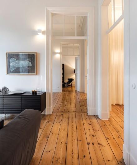 80平清秀蓝湾简约时尚的两居室功能区