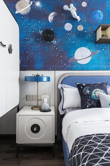 青花瓷融入家居180平米样板房卧室