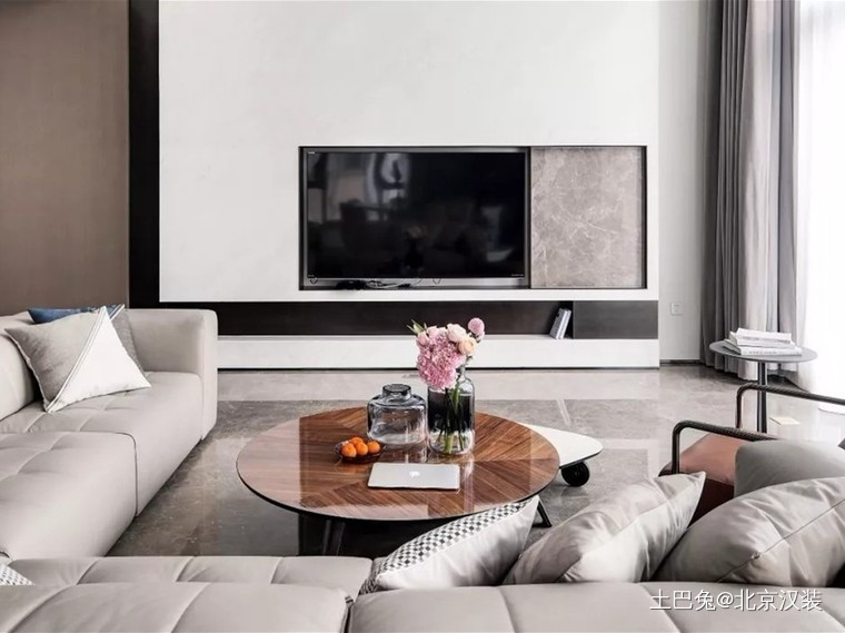 二层私人住宅现代装修风格渲染生活客厅现代简约客厅设计图片赏析