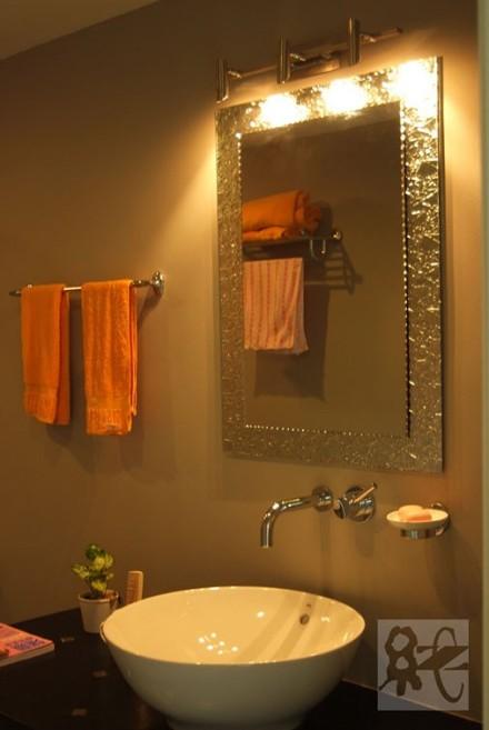 100㎡欧式三居室,古朴大气卫生间