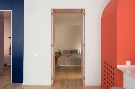 背后的蓝色,背后的玫瑰卧室