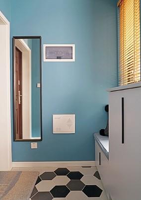 取消繁荣,简约北欧风75平二居室玄关2图北欧极简设计图片赏析