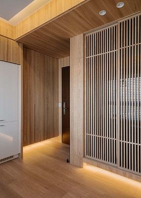 90平米日式风格,温暖干净~玄关日式设计图片赏析