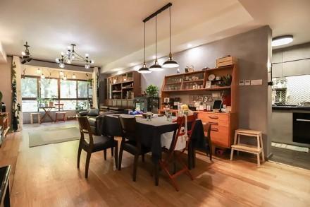 113㎡两室一厅精致工业风让家酷10倍厨房1图