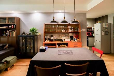 113㎡两室一厅精致工业风让家酷10倍厨房2图