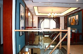 220㎡下跃新中式穿越千年的典雅与贵气客厅中式现代设计图片赏析