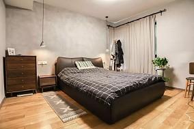 113㎡两室一厅精致工业风让家酷10倍卧室现代简约设计图片赏析