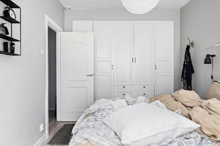 87平米一居室,回归纯净白皙的意境卧室