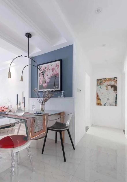 轻奢简欧气质摩登混搭两居室,唯美浪漫功能区