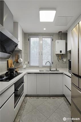90㎡两室,白色,心灵的归属地!餐厅现代简约设计图片赏析