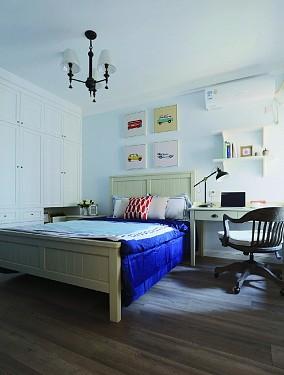124㎡三居室,生如夏花简约复古法式风卧室欧式豪华设计图片赏析