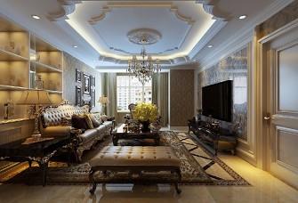 欧美风情116平三居室。12万元全包