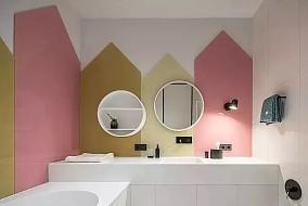 黑白灰均匀搭配,简洁大方、彰显年轻稳重卫生间现代简约设计图片赏析