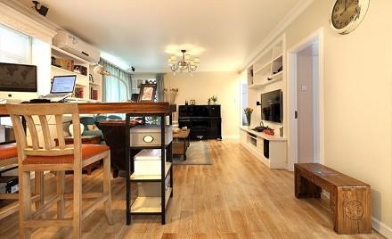 72²美式风格小格局大设计客厅1图