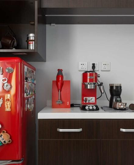 灰色系现代风三居,心之所向,质感生活厨房