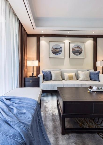 新中式|文化复兴,含蓄秀美客厅