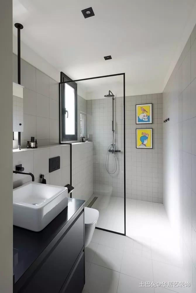 单身公寓不同线条结合的层次感卫生间现代简约卫生间设计图片赏析