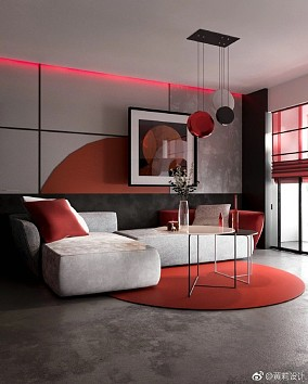 现代风格热情色搭配大胆创新客厅其他设计图片赏析