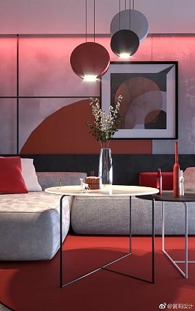 现代风格热情色搭配大胆创新客厅现代简约设计图片赏析