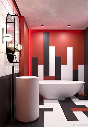 现代风格热情色搭配大胆创新卫生间其他设计图片赏析