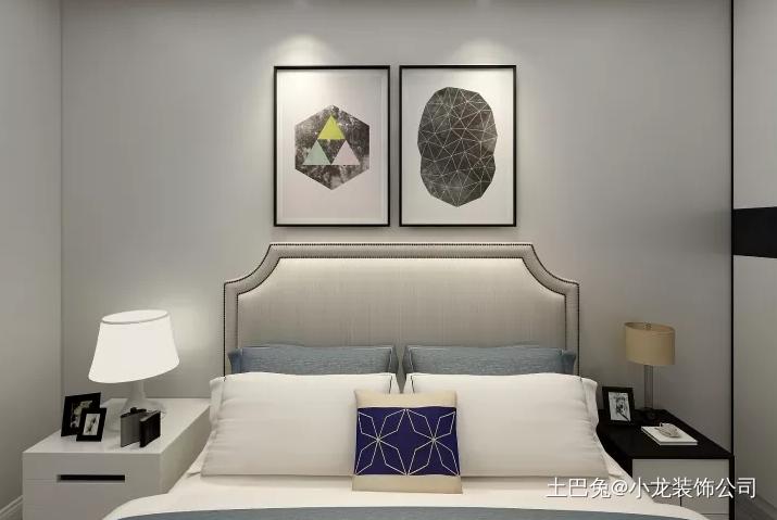 以灰色为主高端大气尽显风格卧室中式现代卧室设计图片赏析