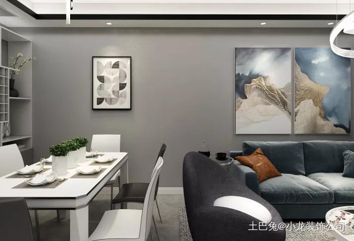 以灰色为主高端大气尽显风格客厅现代简约客厅设计图片赏析