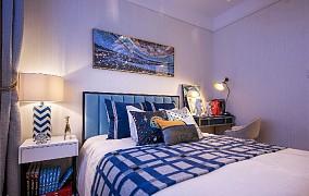 90平方现代风格秋天的落叶卧室1图现代简约设计图片赏析