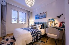 90平方现代风格秋天的落叶卧室2图现代简约设计图片赏析