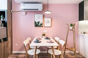 70㎡小复式打造粉色公主梦幻之家厨房北欧极简设计图片赏析