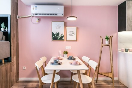 70㎡小复式打造粉色公主梦幻之家厨房