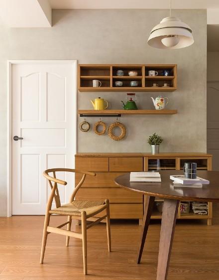 满溢温暖日系宅!25㎡简约木质亲子公寓厨房
