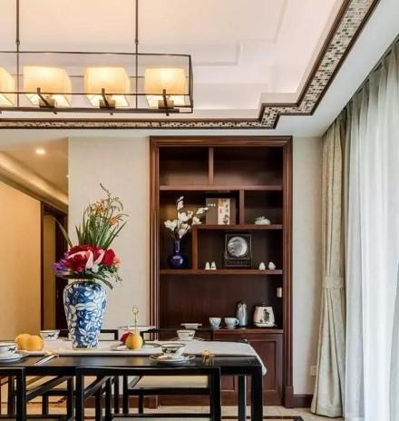 197㎡新房,原来有钱人都装新中式!厨房