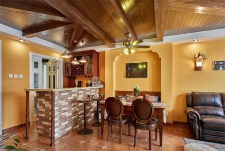80㎡美式二居室,鸟语花香美式家客厅